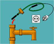 защита труб от замерзания